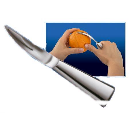 Narancshámozó kés