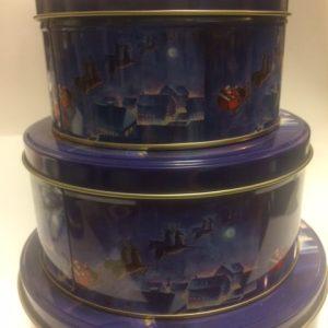 Karácsonyi 3 db-os sütis fémdoboz